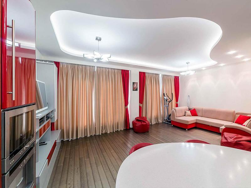 Немецкий потолок в гостиной